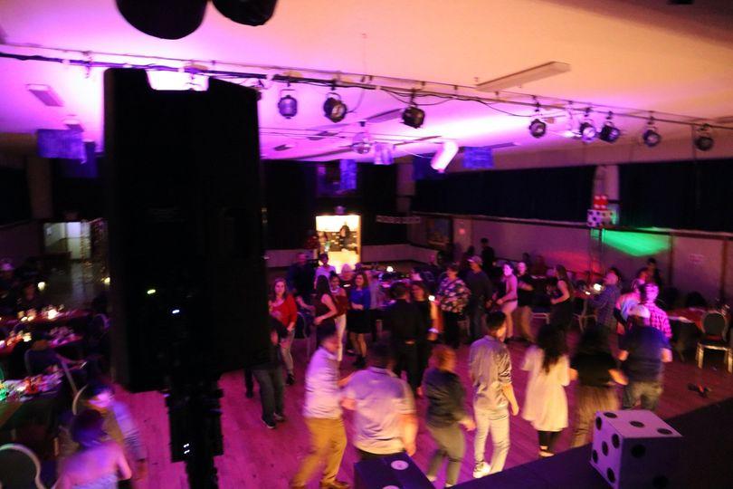 Pink dance floor lighting