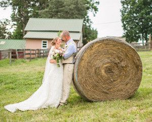 Couple's outdoor wedding shoot