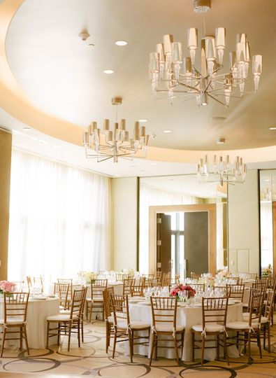 Chandeliers and high ceilings