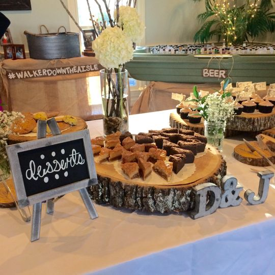 Dessert Station with Pecan Butter Crunch Cake