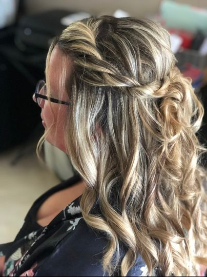 Texture and half updo