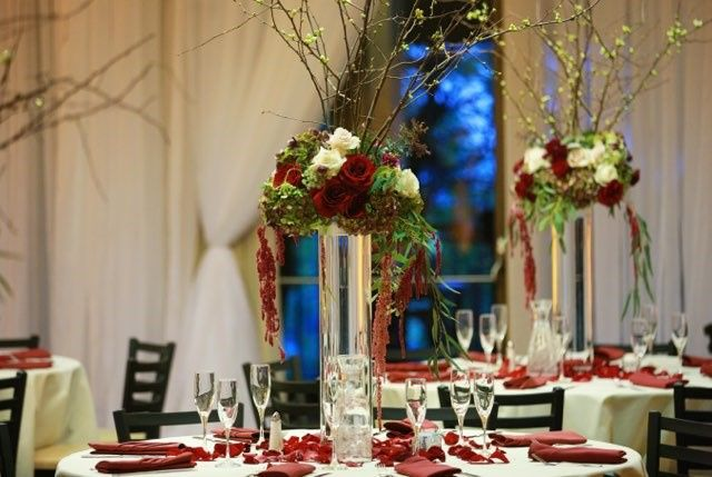 Tall Reception Centerpieces