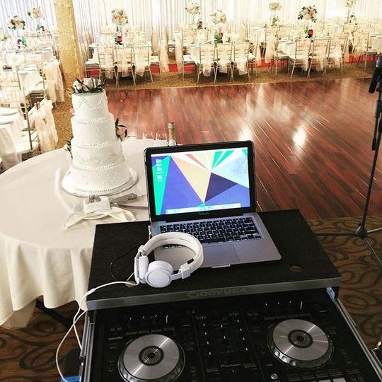 DJ setup ready to go