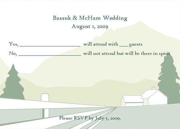 Summer wedding RSVP