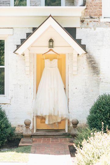Styled Wedding Dress Photo