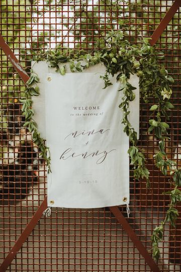 Fabric Welcome Sign