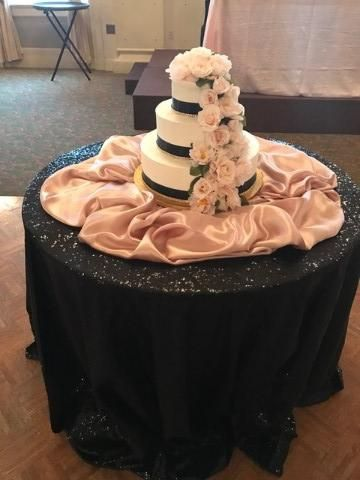 Tmx 3 Tier Black Blush Pink And Gold Bling 51 1029339 157836521336368 Milwaukee, Wisconsin wedding cake