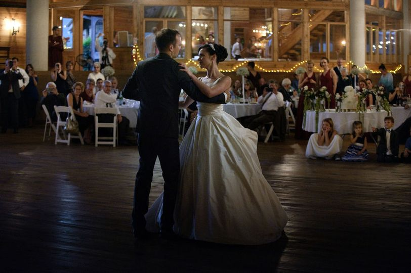 First dance waltz as guests look on