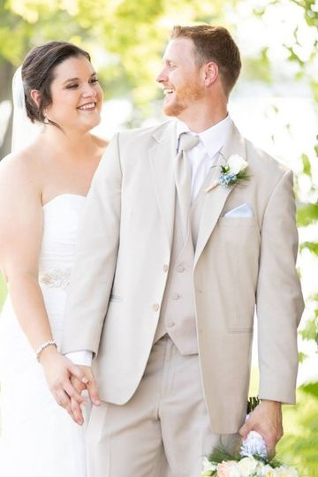 All smiles for the bride and groom