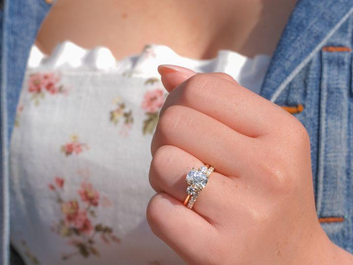 Tmx Antique Cushion Three Stone And Shared Prong Ring 51 360439 1569611817 Huntington Beach wedding jewelry