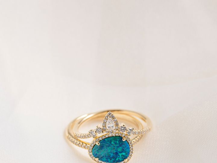 Tmx Pear Halo Curve Ring And Freeform Black Opal 51 360439 1569611764 Huntington Beach wedding jewelry