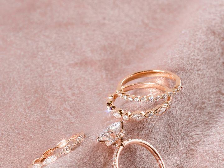 Tmx Rose Gold Stacks Boy 51 360439 1569613229 Huntington Beach wedding jewelry