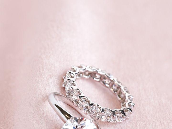 Tmx Round Solitaire And Eternity Round Diamond Band 51 360439 1569611802 Huntington Beach wedding jewelry