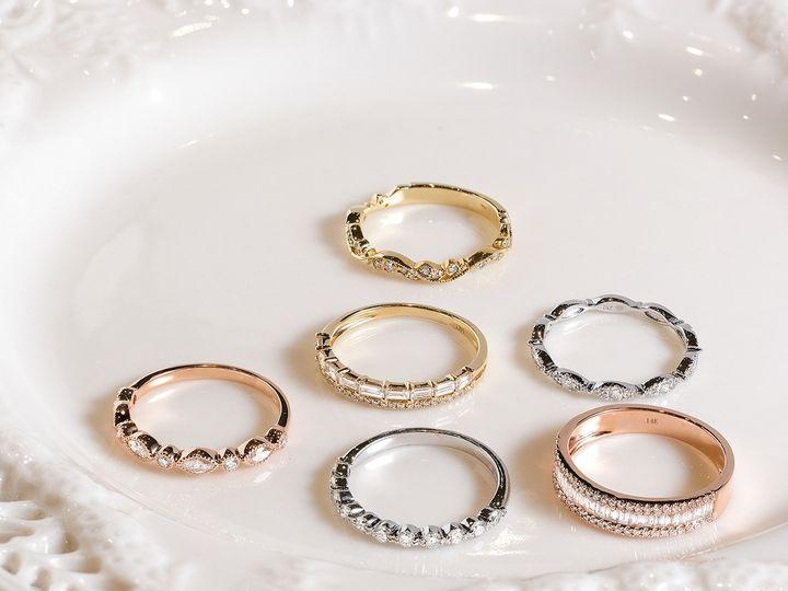 Tmx Stackable Rings On Plate 51 360439 1569613214 Huntington Beach wedding jewelry