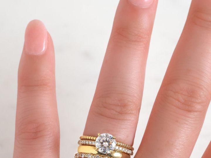 Tmx Yellow Gold Ring Stack On Hand 51 360439 1569611804 Huntington Beach wedding jewelry