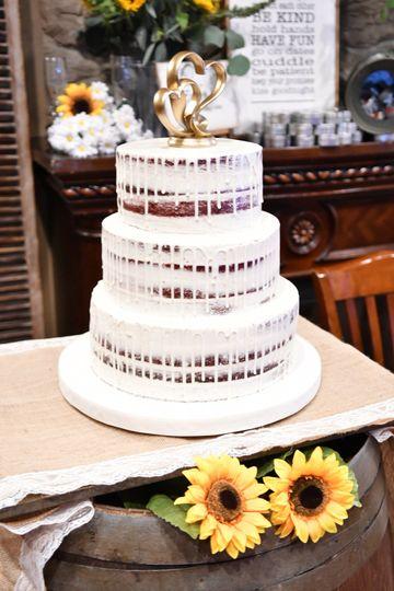 Semi-naked drip cake