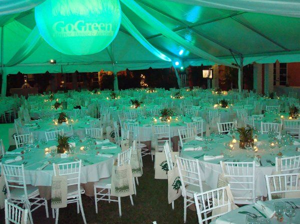 Tent and rentals set up to meet your decor preferance