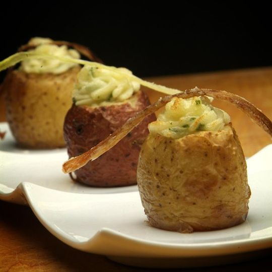 Double Baked Stuffed Potatoes