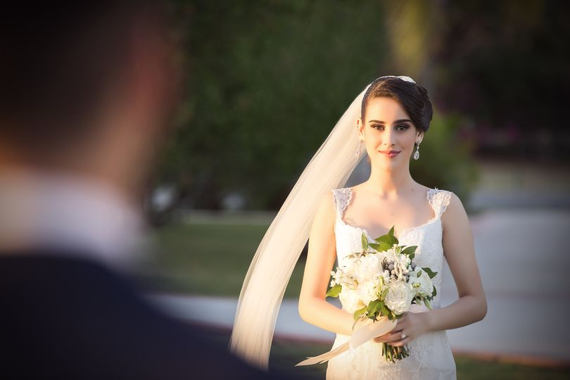 First look of the Bride