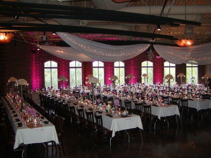 Reception lighting and draping