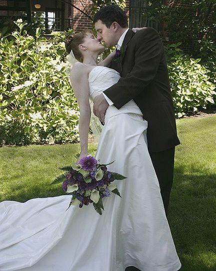 The bride and groom in Hillsboro, Oregon