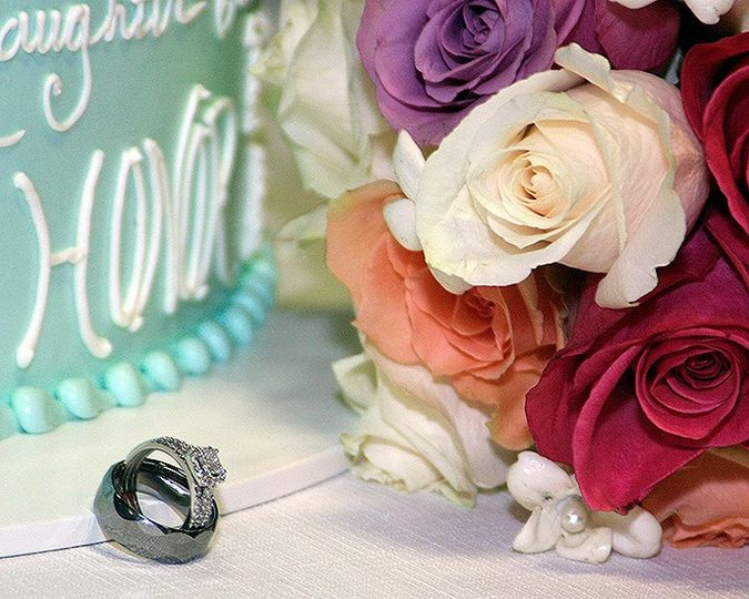 The rings and cake in Hillsboro, Oregon