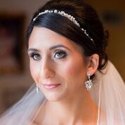 Bride wearing a silver crown