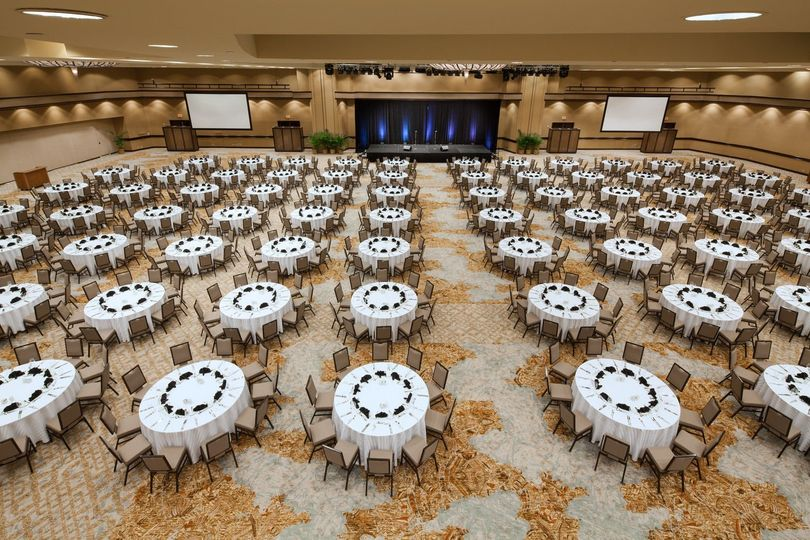 Our newly renovated Ballrooms provide an event space big enough to fit you and 1,000 of your family...