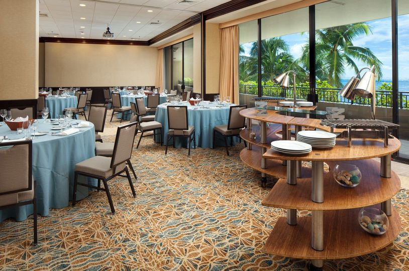 Our newly renovated Kohala and Kona Rooms feature an event space with a balcony overlooking Waikiki...