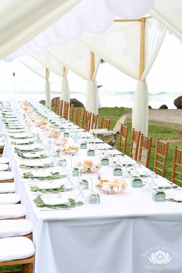 Long tables for guests