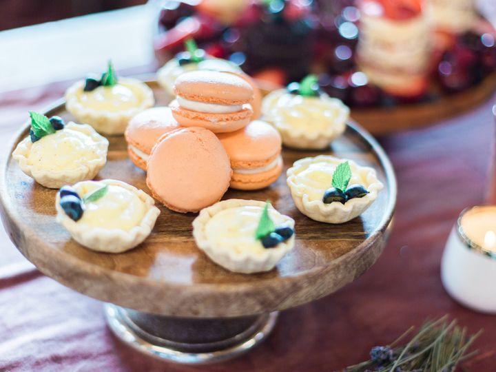 Fruit tarts and french macaron