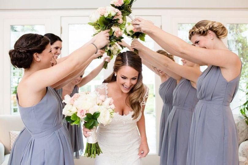 The bride coming through