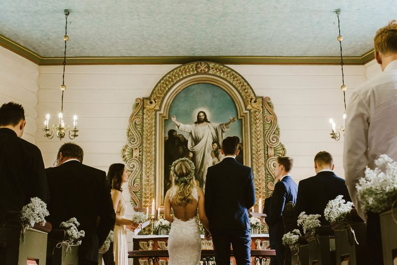 The church this Norwegian and Brit got married in (all the heart eyes)