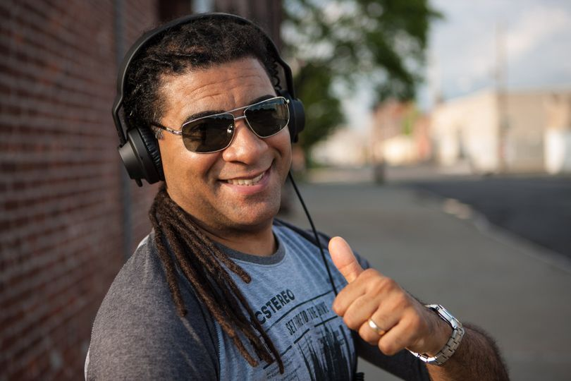 DJ playing outdoors