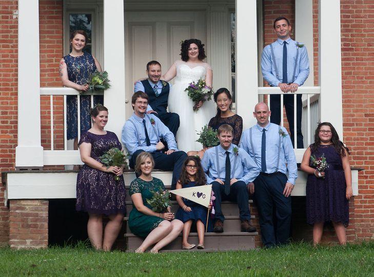 Stylin' a wedding party.