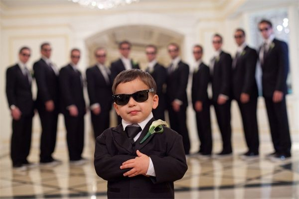 Groomsmen and the little boy