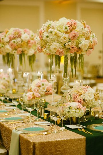 Luxurious wedding reception