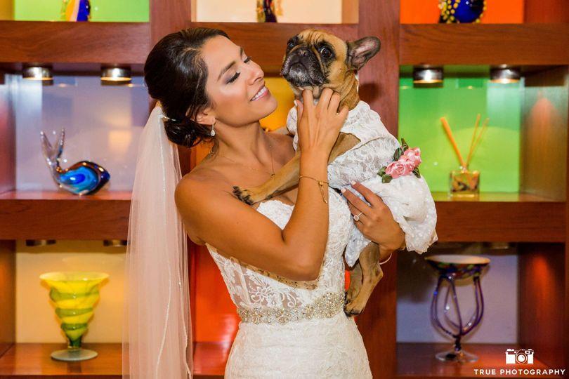 Bride & her dog