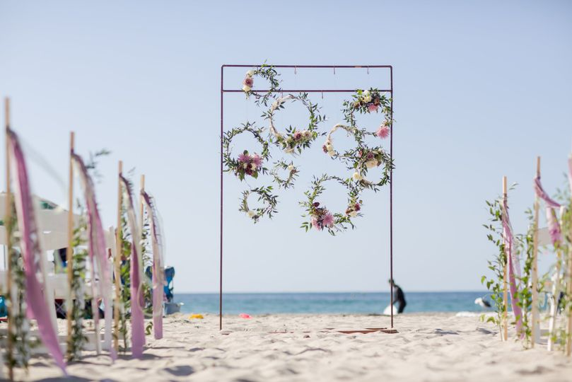 Creative ceremony arch