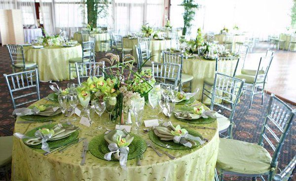 Table setting and green decor