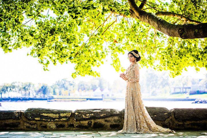 Sleeved bridal dress