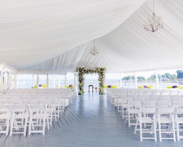 Ceremony tent setup