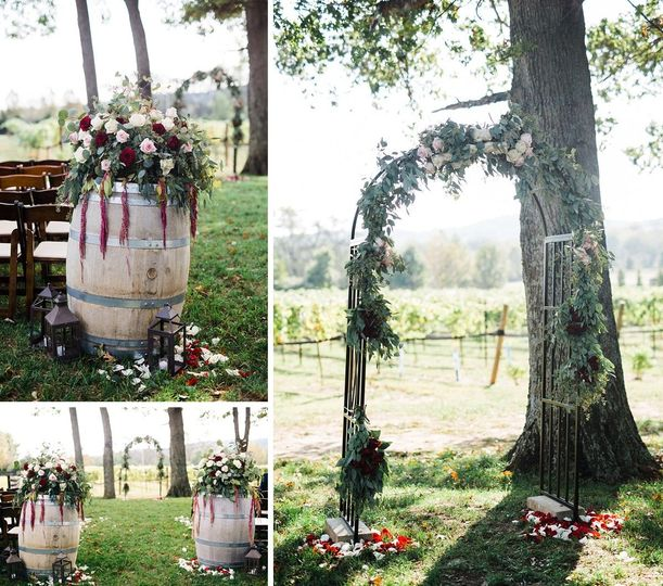 This gorgeous ceremony takes place on the West Lawn of the Stone House facing an acre of Chamboucine...