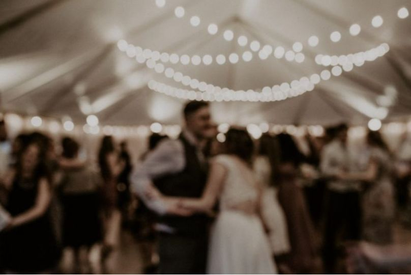 We love the romantic lighting from the String lights that are included in the tent!  Photo Credits -...