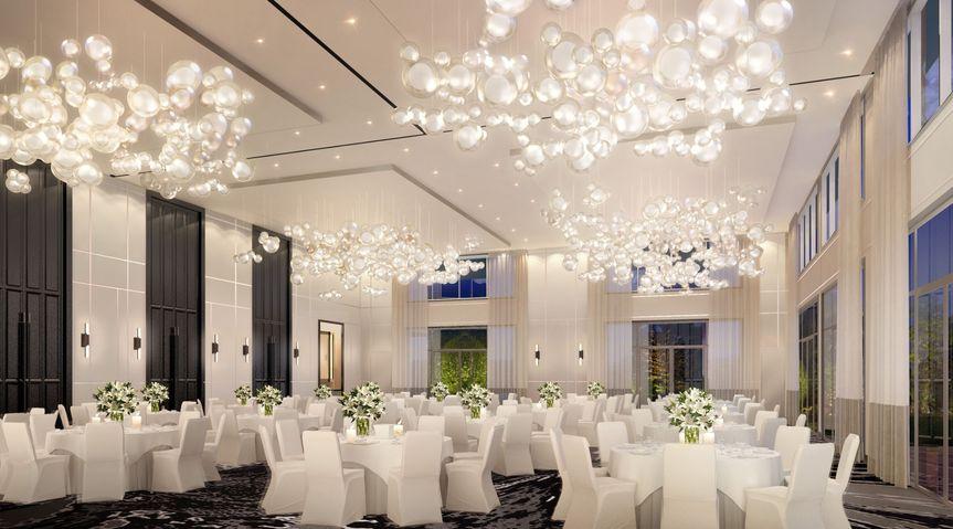 Carrington Ballroom set for a reception