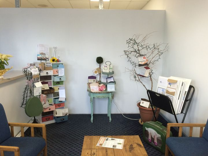 Our Consultation Area.  A great place to discuss your event and see paper samples.  We can...