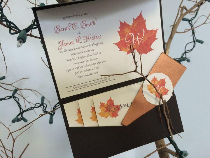 Tmx 1420212726840 Img1098 Queensbury wedding invitation
