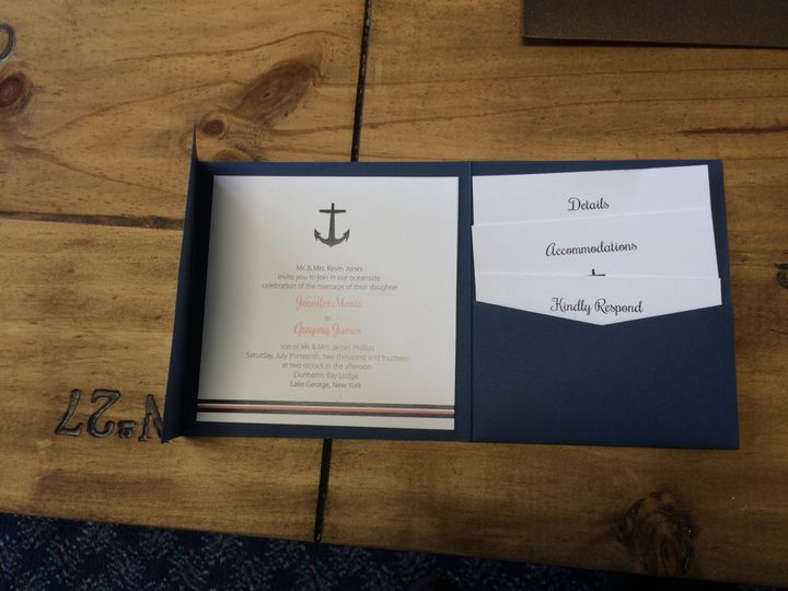 Tmx 1420212825441 Img1101 Queensbury wedding invitation