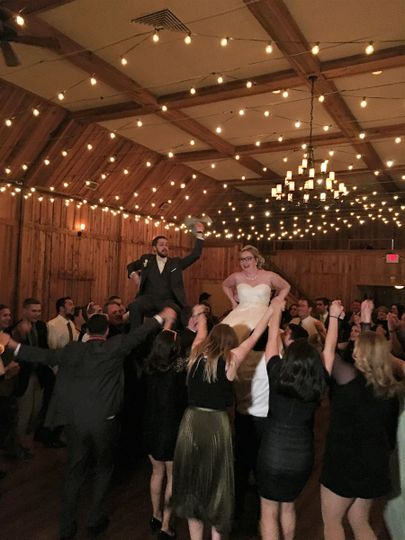 Carrying the newlyweds