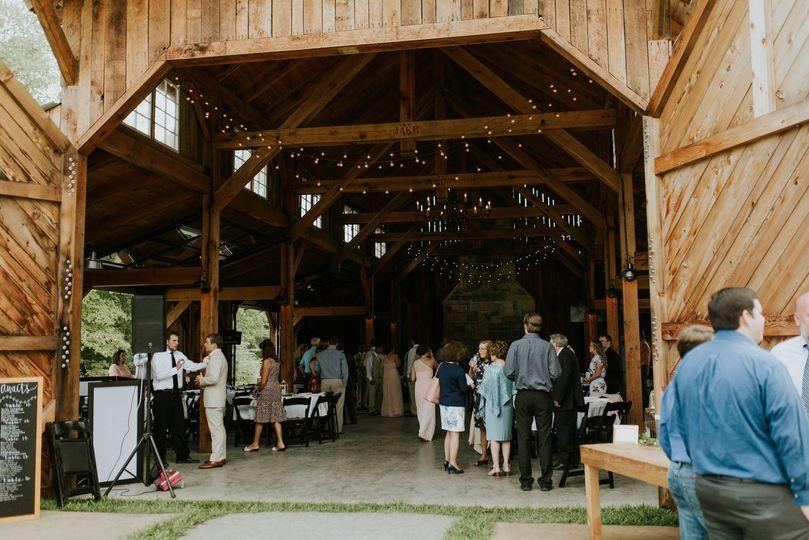 Barn reception entrance